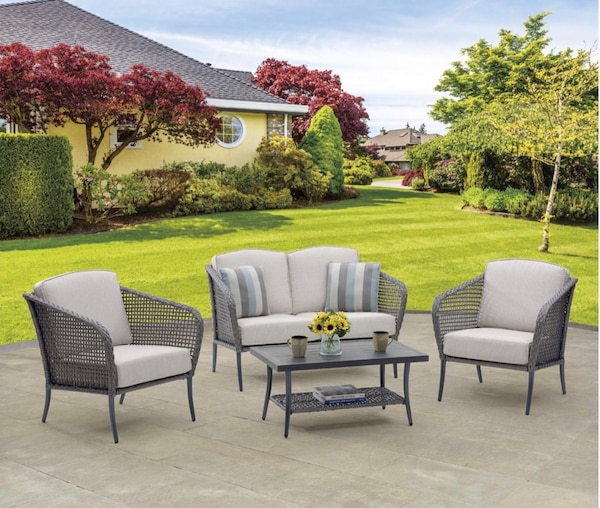 Fabulous Mcleland Design Lennox Outdoor Patio 4 Pc Loveseat Chair And Table Conversation Set Ocoug Best Dining Table And Chair Ideas Images Ocougorg