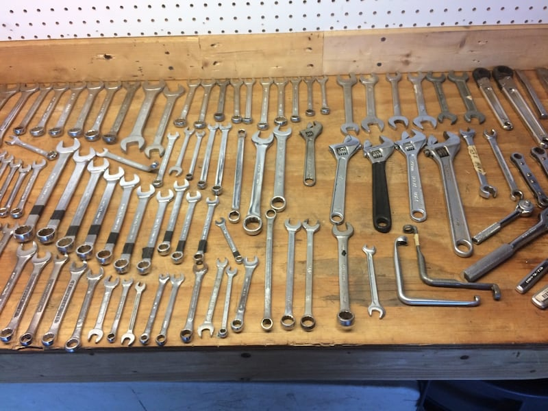 Wrenches, sockets, ratchets a few specialty tools including Snap-On, Bonney, Mac,Craftsman tool box included 7b803fa5-f8e1-4b6b-9c7c-a62fa04af308