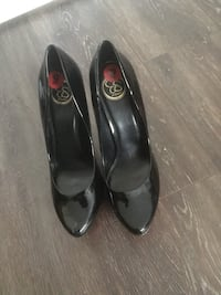 Black leather shoes brand new