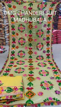 white, pink, and green floral textile Nagapattinam, 611003