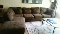 brown suede sectional sofa Kitchener, N2A 3Z9