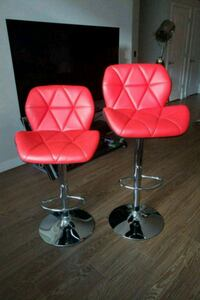 two red and gray padded bar stools Herndon, 20171