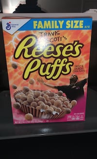 Travis Scott's Reese's Puffs collaboration, limited edition. Mc Lean, 22102