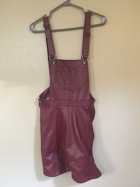 Burgundy faux leather overalls Toronto, M1E 1L8