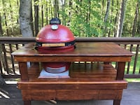 """Kamado Joe Ceramic Charcoal Grill 18"""" with table. Excellent condition!  New Hill, 27562"""