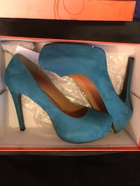 Deep Teal Heels Sz 8 1/2 Humble, 77346