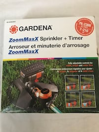 Brand New GARDENA ZoomMaxx Sprinkler on Sled Base with Water Timer. Winchester, 22603