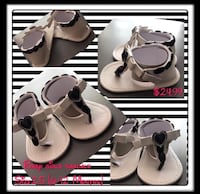 Adorable handmade girls black and white sandals size 6-12 months Henderson, 89074