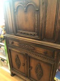 Armoire sturdy good condition but the knob on one fell off. We still have it. Sunnyvale, 94089