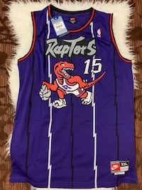Men's Vince Carter Authentic Quality Purple Jersey: Basketball Toronto Raptors #15 Surrey, V4N 1B6