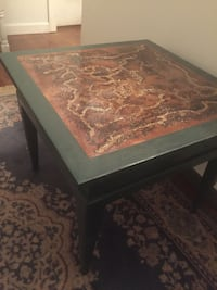Handmade pyrography table/Side table