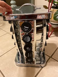 Spinning Silver Spice Rack