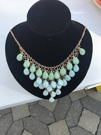 silver and green beaded necklace Montreal