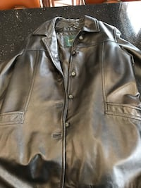 Black Danier leather button-up jacket Newmarket, L3X 2M7
