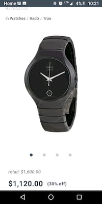 round black analog watch with black strap Vancouver, V6A 1H4