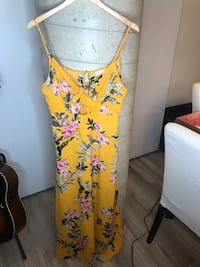 Yellow Floral Dress By Row A Size L Toronto, M5V