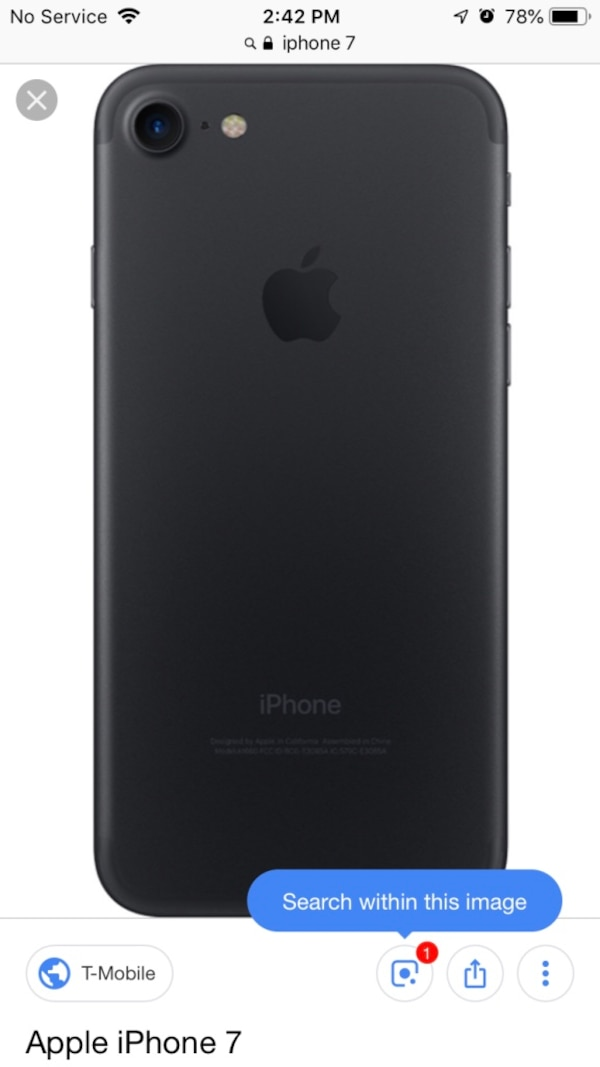 Space gray iphone 7 in great condition