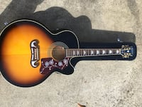 New Epiphone EJ 200SCE/vs Stereo pickups with Case Lexington, 29072