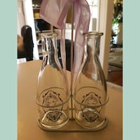 French milk bottles and caddy Whitby, L1N 8X2