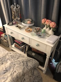 3 drawer console table refurbished
