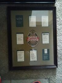 Double Diamond Alcohol Labels framed collection