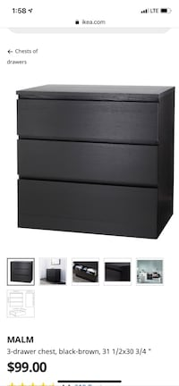 IKEA 3 drawer dresser Westborough, 01581