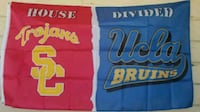 Usc / UCLA  house Divided flag size 3ft x 5ft new  Colton, 92324