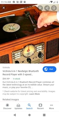 Victrola 6 in 1 record player