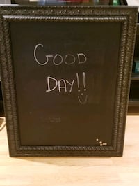 Magnetic Chalkboard with black frame Vaughan, L6A 1N5