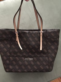 brown and black Louis Vuitton leather tote bag Brantford, N3R 2S3