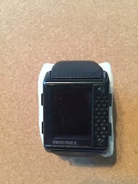 black and gray digital watch