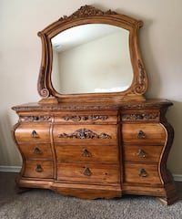 brown wooden dresser with mirror Fruita, 81521