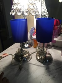Blue and silver  table lamp Tomball, 77377