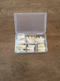 Assorted professional nail tips in organized box Calgary, T2E 0H4