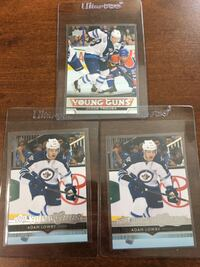 Winnipeg Jets 3x Young Guns Rookie Cards Jacob Trouba Adam Lowry EDMONTON
