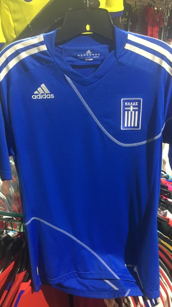 Greek national team Home  jersey by Adidas size small ecbc613c-a02e-471c-9d68-7eb0c993b30e