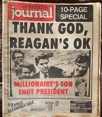 Philadelphia Journal President Reagan Shot 3/31/81 Newspaper Lebanon