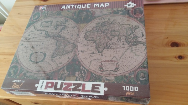 Antique World Map Puzzle.Used Brand New 1000 Piece Antique World Map Jigsaw Puzzle For Sale