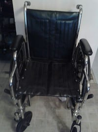black and silver wheelchair