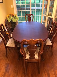 I'm selling an American Drew table, chairs, and China Cabinet. The table comes with two extra leafs and covers for the entire table. Smoke-free home Chantilly, 20151