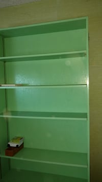 Green giant bookshelf very sturdy made from nice plywood painted lime