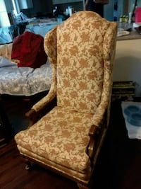 brown and white floral fabric sofa chair Old Orchard Beach, 04064