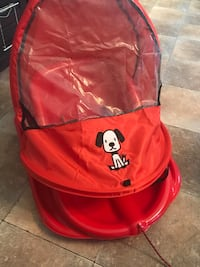 red and black Chicco umbrella stroller