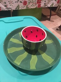 Fun Watermelon Cake Plate/Chip Bowl Virginia Beach, 23456