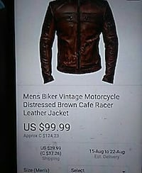 For him brown leather jacket  St. John's, A1B 4R3