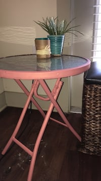 hand painted collapsible side table  Lubbock, 79401