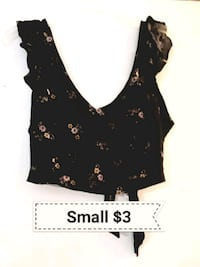 women's black and brown floral sleeveless dress Bakersfield, 93305