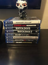 PS4 with games and controllers  Selma, 93662