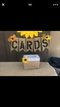 Gift card holder/ money box with burlap CARDS sign Fontana, 92336