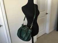 J crew forest green brompton satchel  euc with dustbag  Markham, L6B 0Y5